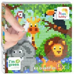 Kit Créatif Pixel tableau 12x12cm - Safari