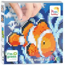 Kit Créatif Pixel tableau 12x12cm - Poisson