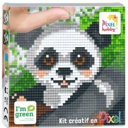 Kit Créatif Pixel tableau 12x12cm - Panda