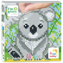Kit Créatif Pixel tableau 12x12cm - Koala