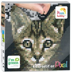 Kit Créatif Pixel tableau 12x12cm - Chat
