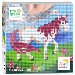 Kit Créatif Pixel tableau 12x12cm - Licorne