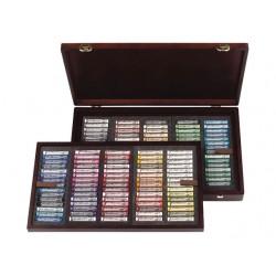 Coffret bois Master 150 pastels tendres