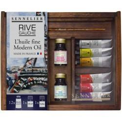 Coffret en bois huile Rive Gauche 12x10ml et accessoires