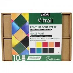 Coffret Collection peinture Vitrail 10x45 ml