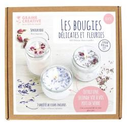 Kit Bougies délicates et fleuries 100% soja