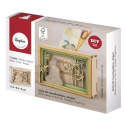 Boîte cadeau en bois 3D 115x85x50mm - Enjoy