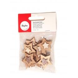 Miniatures en bois Etoiles 3cm x10pcs