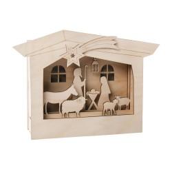 Kit en bois Cadre à motifs 3D, Crèche 24x24x6,3cm