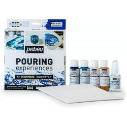 Set de decouverte du Pouring Pébéo 4x 59ml + silicone 50ml