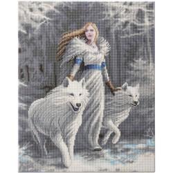 Kit tableau à diamanter Crytal Art 40x50cm - Fantasy loup