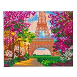 Kit tableau à diamanter Crytal Art 40x50cm - Printemps parisien