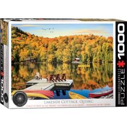 Puzzle 1000 pièces - Chalet au bord du lac, Québec