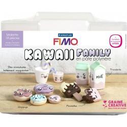 Malette Kawaii Family Asie en pâte polymère Fimo