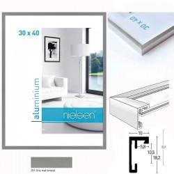 Cadres aluminium C2 - Gris Mat Brossé