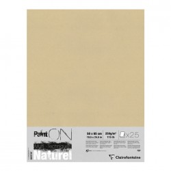 Pochette papier Paint On Naturel 250g/m², 25 feuilles 50x65 cm
