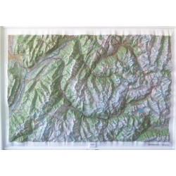 Carte en relief IGN Belledonne / Vanoise - 113x80 cm