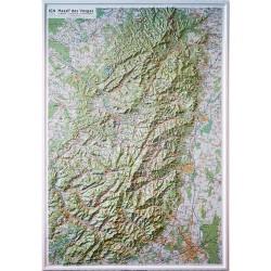 Carte en relief IGN Massif des Vosges - 80x113 cm
