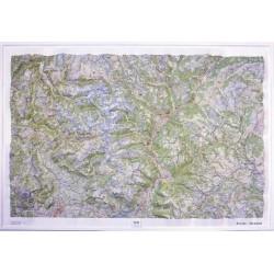 Carte en relief IGN Ecrins / Queyras - 113x80cm