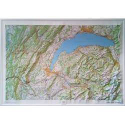 Carte en relief IGN Haut Jura - Léman - 113x80cm