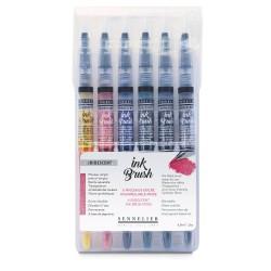 Sets de 6 pinceaux à encre aquarellable InkBrush