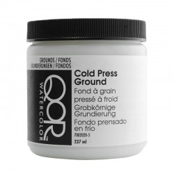 Apprêt de fond à grain pressé à froid Qor Golden, pot 237 ml