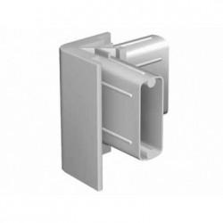 Raccord d'angle gris pour cimaise Click rail