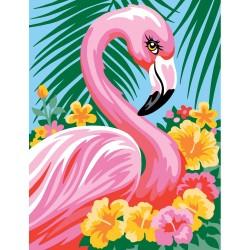 Peinture par numéros 25x30cm - Flamant rose