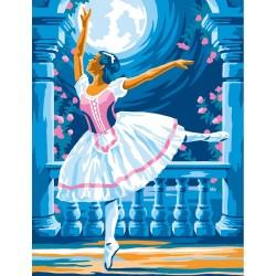 Peinture par numéros 25x30cm - Ballerine au clair de lune