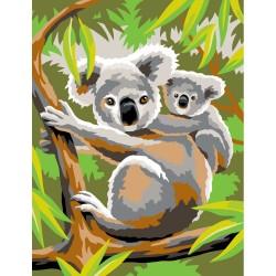 Peinture par numéros 25x30cm - Koalas