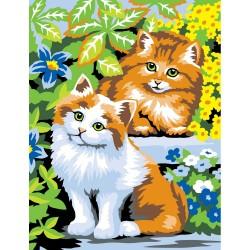 Peinture par numéros 25x30cm - Chats coquins