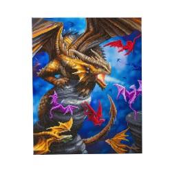 Kit tableau à diamanter Crytal Art 40x50cm - Clan des Dragons