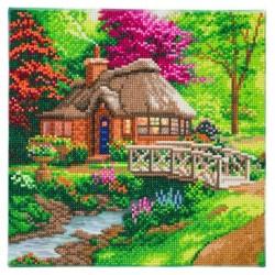 Kit tableau à diamanter Crytal Art 30x30cm - Cottage de l'amitié