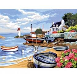 Peinture par numéros 30x40cm - Rivage breton