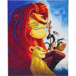 Kit tableau à diamanter Crytal Art Disney 40x50cm - Le Roi Lion