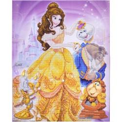 Kit tableau à diamanter Crytal Art Disney 40x50cm - La Belle et la Bête