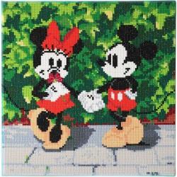 Kit tableau à diamanter Crytal Art Disney 30x30cm - Minnie et Mickey
