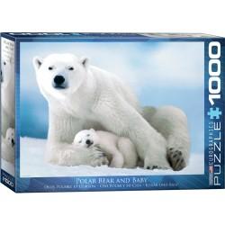 Puzzle 1000 pièces - Ours polaire et ourson
