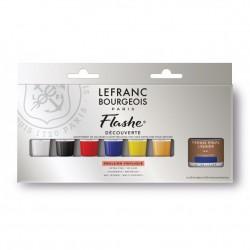 Set découverte peinture vinylique Flashe Lefranc Bourgeois