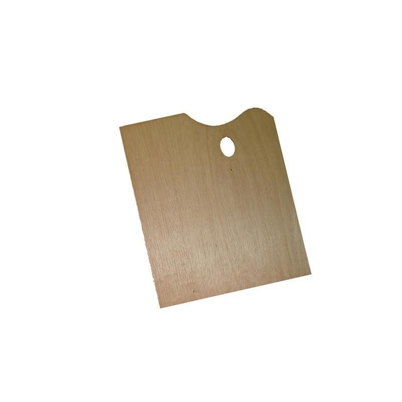palette de peintre rectangle en bois 30x40cm palette de peintre rectangle bois pas cher. Black Bedroom Furniture Sets. Home Design Ideas