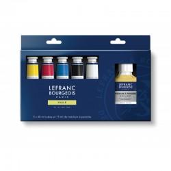 Set peinture à l'huile Fine Lefranc 5x 40ml + additif