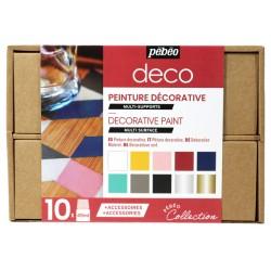 Coffret Collection Peinture Déco, 10x45 ml