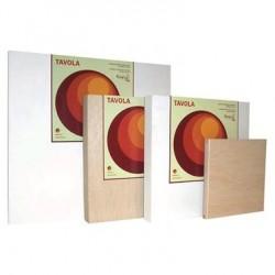 Support en bois lisse avec Gesso Tavola, épaisseur 4cm