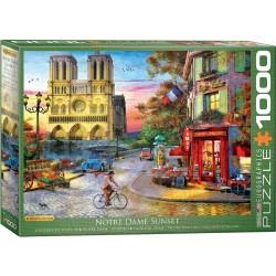Puzzle 1000 pièces - Coucher de soleil sur Notre-Dame, de Dominic Davison
