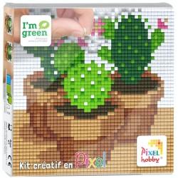 Kit Créatif Pixel tableau 12x12cm - Cactus
