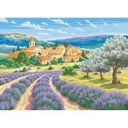 Peinture par numéros 30x40cm - Lavande en provence