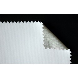 Toile mixte polycoton à grain moyen enduction blanche 360g/m²
