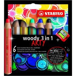 Etuis de crayons multi-talents Woody Arty Stabilo