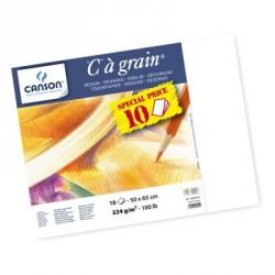 Manipack papier à dessin C à Grain 244g, 10 feuilles 50x65cm