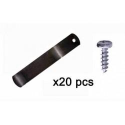 Tournettes pour châssis et cadre 50mm + vis - Sachet de 20